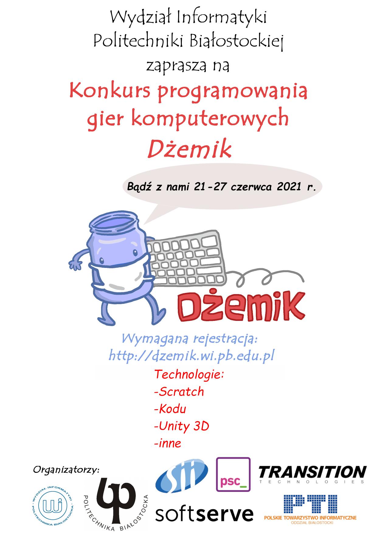 Plakat konkursu Dżemik